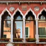 Arched windows of Venetian homes