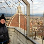 Amelie at the top of Giotto's Campanile