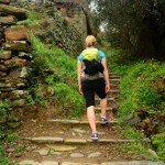 Amelie on the Cinque Terre trail