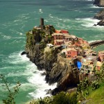 Amelie with Vernazza