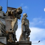 Saints and the moon