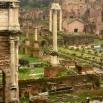 Roman Forum in the rain