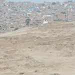 Pachacamac Ruins with neighboring houses