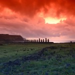 Sunrise over the Tongariki Moai