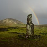 Rainbow over a Hotuiti Moai
