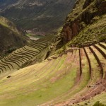 Terraces next to Pisac Ruins