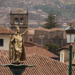 Cusco Plaza Statue