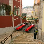Amelie on the streets of Lisbon