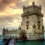 Tower of Belem at sunset