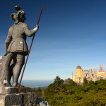 Statue with Pena Palace
