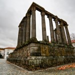 Roman Temple of Evora Ruins