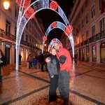Christmas lights on Lisbon's street