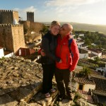 On the Obidos wall