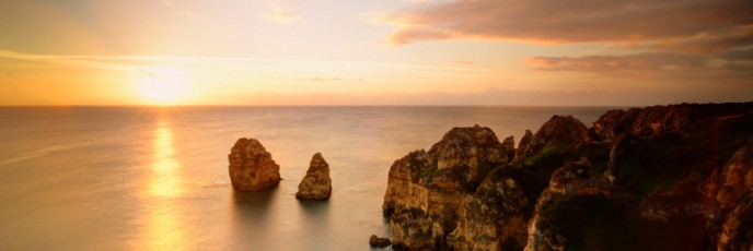 Sunrise at Ponta da Piedade